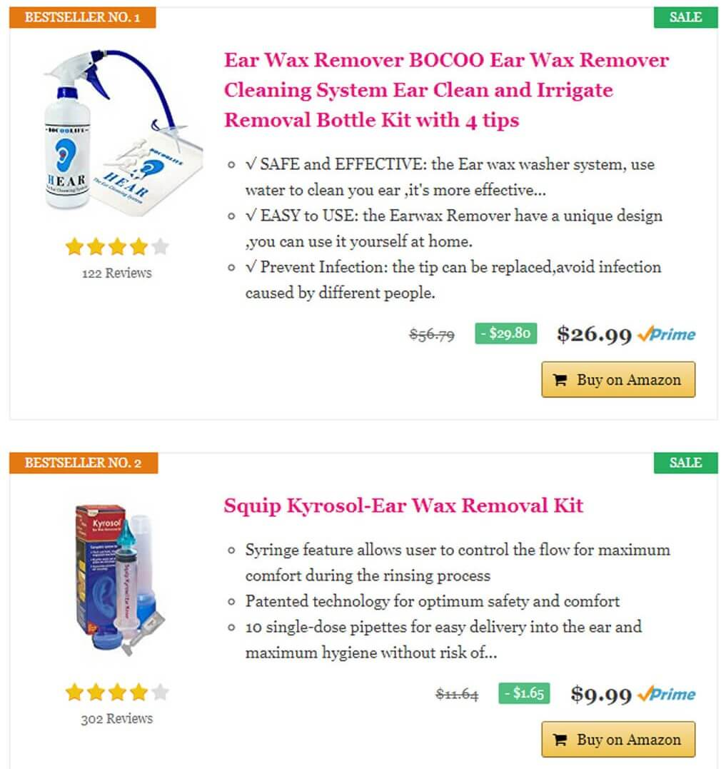 Ear wax remover Amazon top selling