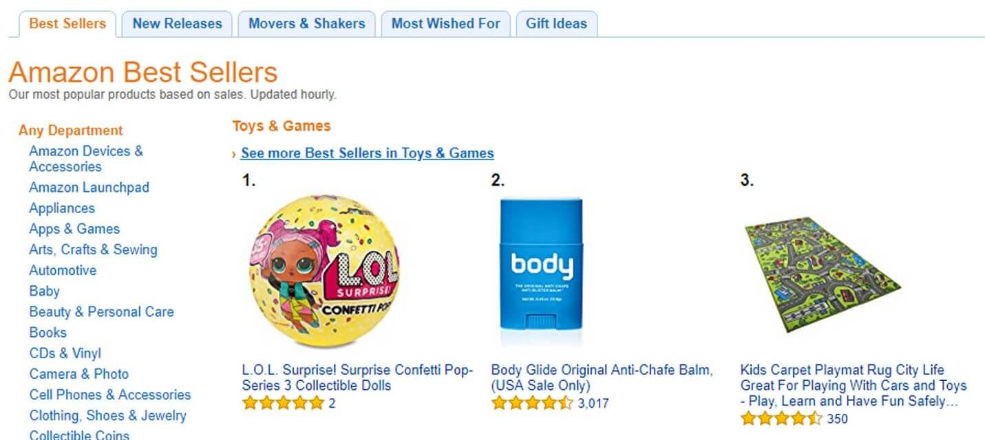 amazon best selling toys and games