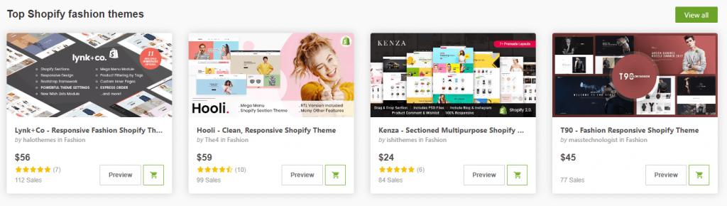 Top Shopify fashion themes